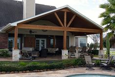 Gable Roof Patio Cover in Remington Trails Katy by TexasCustomPatios, via Flickr