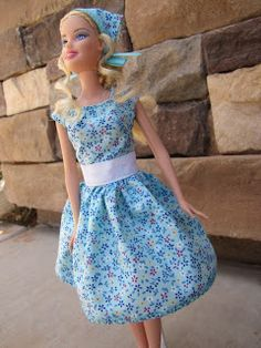 """""""Modest Barbie"""": handmade clothes for Barbie.  These are cute, Barbie's clothes have become much trashier lately"""