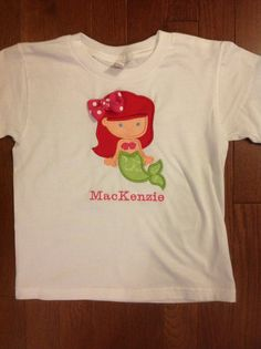 boutique Little Mermaid inspired shirt by Thatsjustsewmaria, $18.50