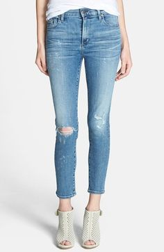 Citizens of Humanity  Rocket  Destroyed Crop Skinny Jeans available at   Nordstrom Jeans Feminino 5b5ce2d5173