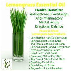 Organic Lemongrass Essential Oil $11 http://www.ourlemongrassspa ...