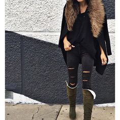 Faux fur details and shearling lined boots