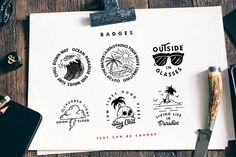 Ad: Carbon Typeface &Illustration,Badges by bloomxxvi on Carbon Illustration, Badges And Font consists of a collection of very helpful illustrations for each of your work, consisting of 35 vector Pencil Illustration, Graphic Illustration, Vector Illustrations, Cool Fonts, New Fonts, Hipster Fonts, Sans Serif Fonts, Creative Sketches, Premium Fonts