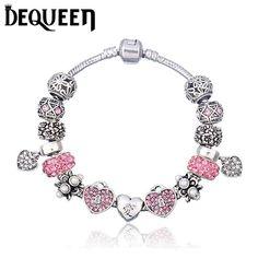 Dequeen Crystal Charm Bracelet Bangle Bracelets 2d57eabae348