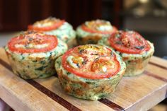 Cheesy Spinach Muffins...these are delicious and are great brunch/breakfast bites and pack up well in lunches