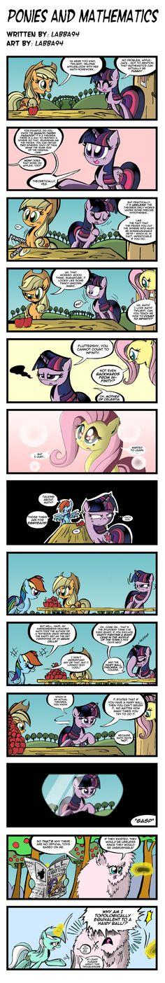 Ponies and Mathematics by labba94.deviantart.com on @deviantART