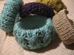 Cute knitted bangles