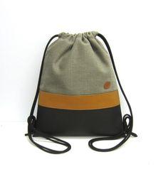 Turnbeutel -  Turnbeutel mit Reißverschlusstasche - ein Designerstück von Irene-Kater bei DaWanda