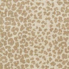 Fabric | Leopard Linen Print in Sesame | Schumacher