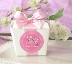 #cajas para #recordatorio y stickers personalizados con la flor de cerezo