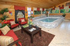 """Skinny Dip Inn"" cabin in Pigeon Forge   photo 1546 courtesy of Timber Tops Cabin Rentals"