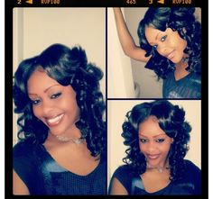 Full head sew in with natural part