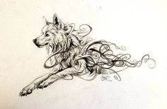 Swirly Wolf Design by Lucky978