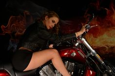 https://flic.kr/p/nCXFRU   Model and Harley Davidson bike   Model: Louise Neale Make Up: Latoya Adlam, Bike is Harley Davidson V-Rod Muscle, kindly loaned by Malcom Knapp.