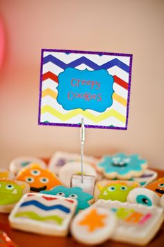 Monster Cookies by @Lisa Stone/The Cookie Jar  I DO invitations by michelle: New Monster Bash Party Collection