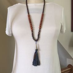 A personal favorite from my Etsy shop https://www.etsy.com/listing/281443048/mala-style-beaded-necklace-with-tassel
