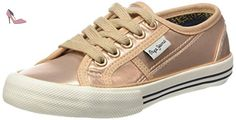 Pepe Jeans Baker Shiny, Baskets Basses Fille, Rose (318Powder Rose), 32 EU - Chaussures pepe jeans (*Partner-Link)