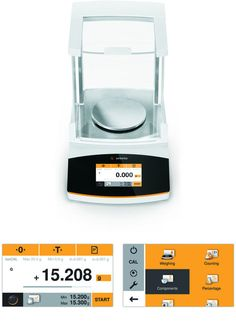 iF design gold awarded interface for Secura lab scale.    Design: Human Interface Design  Customer: Sartorius  Year: 2012