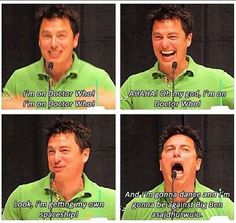 John Barrowman fanboying