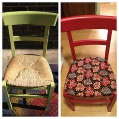 Kitchen chair redo!