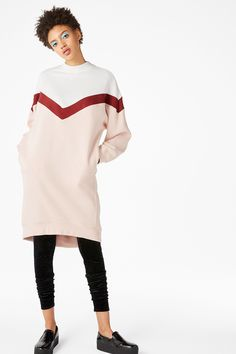 Oversize sweater dress - ballet beauty/multimix - Dresses - Monki ES