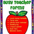 Eighteen different forms (55 pages in all) to help a busy teacher.  $