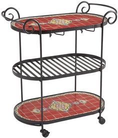 Pier 1 Imports Rania Red Bar Cart