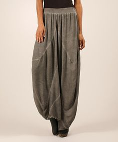 Anthracite Ruched Harem Pants by Maille Girl  I want these...this brand is not all cotton so beware the polyester trap!  http://www.zulily.com/invite/ddonaldson7851