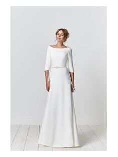 Beautiful collections of wedding gowns for sale including designer collection Opulence from Romantica. Book an appointment for a special shopping experience in our bridal studio. Minimal Wedding Dress, Plain Wedding Dress, Western Wedding Dresses, Wedding Dresses Photos, Classic Wedding Dress, Modest Wedding Dresses, Bridal Dresses, Minimalist Gown, Lover Dress
