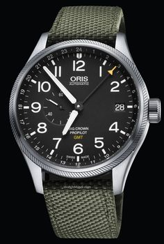 Oris - Big Crown ProPilot GMT, Small Second. designed for time-zone-jumping pilots and travellers, and features a newly developed Oris GMT movement.