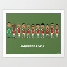 #Gunners2013 Art Print by 8bit Football - $18.00