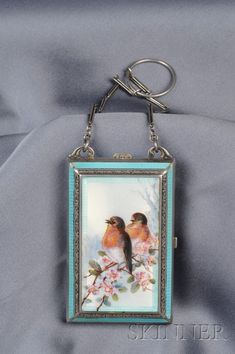 .935 Silver and Enamel Compact