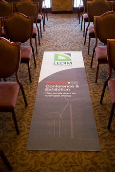 Floor signage is a great way for businesses to stand out at conferences and tradeshows.