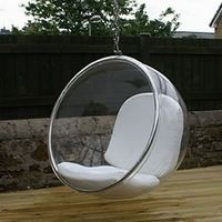 hot sale leisure transparent moulded replica cheap clear ball hanging acrylic bubble chair