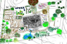 Puutarhasuunnitelma Garden Ideas, Diagram, Gardens, Map, Outdoor Gardens, Location Map, Landscaping Ideas, Maps, Backyard Ideas