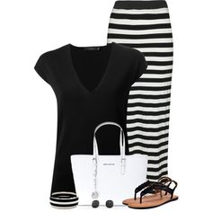 Black Tee for Summer, created by cindycook10 on Polyvore