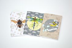 - Set of Luxury Notebooks - Created from Rachel's original drawings and artwork - Printed onto high quality non coated FSC accredited paper - blank page inserts - Made in England - Optional cellophane bag for protection if required Rachel Reynolds, Interior Wallpaper, Blank Page, Cellophane Bags, Flora And Fauna, Artwork Prints, Notebooks, Bee, Stationery