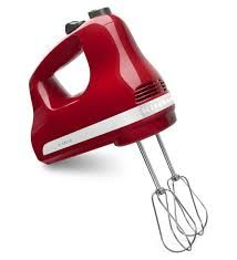 MOM Tip: Storing Small Appliances Store a hand mixer, its beaters and attachments into a basket before tucking away into a cupboard. No more messing with wrapping cords and digging around for attachments. Now everything is neatly tucked in the basket. This works for all kinds of small appliances and their attachments (electric knives, food choppers, electric juicers, etc.).