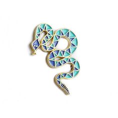 Blue and More Blue Snake Pin | Ghoshee