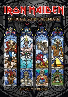 Iron Maiden Official 2019 Calendar - Wall Calendar Format NEW 1785495577 Albums Iron Maiden, Iron Maiden Album Covers, Heavy Metal Art, Heavy Metal Bands, Pink Floyd, Iron Maiden Posters, Eddie The Head, Hard Rock, Where Eagles Dare