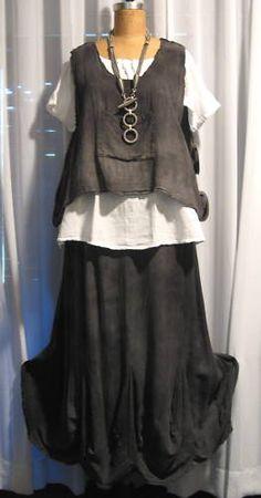 GAUZE Cotton MAY Lagenlook Vest Top OS chz COLORS | eBay