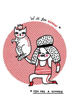 W is for winner. Illustration by Gemma Correll.