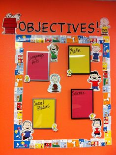 "snoopy themed classrooms | Objectives! ""Peanuts-Style"""