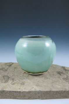 Summer Flower Vase 4inch Wheelthrown by ShadyGrovePottery on Etsy, $35.00