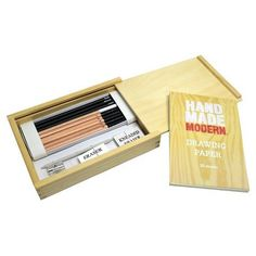 Picture perfect. Draw at the drop of a hat with the Hand Made Modern Sketch Artist Drawing Kit, a curated collection of premium Hand Made Modern pencils, paper, erasers and more presented in a beautifully crafted wood box. Doubles as the perfect gift or starter drawing kit for any arts and... see more details at https://bestselleroutlets.com/arts-crafts-sewing/crafting/paper-paper-crafts/product-review-for-hand-made-modern-drawing-kit/