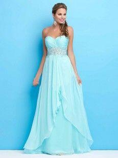 A-formet / Prinsesse Sweetheart ermer beading Chiffon fotside kjoler