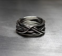 Men's Ring, Men's Wedding Band, Wire Wrapped Ring, Rustic Ring by JenniferWood on Etsy