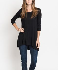 Look at this Black Ballerina-Cuff Tunic on #zulily today!