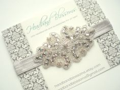 Stunning Rhinestone and Bead Embellished by HeadbandBlossoms