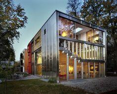 MVRDV's Barcode Villa 9 appartamenti in 1 Residential Architecture, Interior Architecture, Form Architecture, Conceptual Architecture, Box House Design, Box Houses, Dream Houses, Glass Houses, Innovation Design